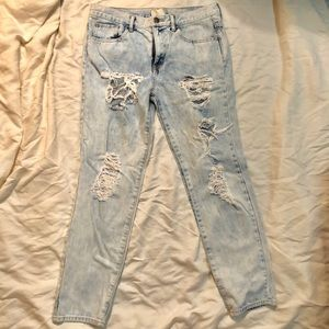 Forever 21 Boyfriend Distressed Jeans Size 28